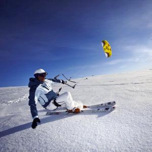 Kite med skidor